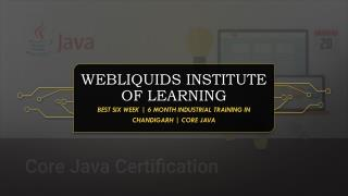 Best six week | 6-month industrial training institute in Chandigarh | Core JAVA