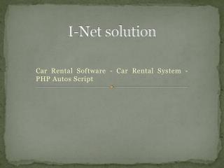 Car Rental Software- Car Rental System