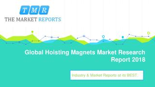 Global Hoisting Magnets Industry Sales, Revenue, Gross Margin, Market Share, by Regions (2013-2025)