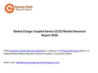 Global Charge Coupled Device (CCD) Market Research Report 2018
