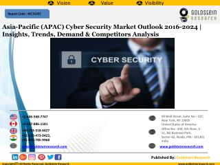 Asia-Pacific (APAC) Cyber Security Market Outlook 2016-2024 | Insights, Trends, Demand & Competitors Analysis