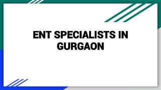 ENT Specialist in Gurgaon - Book instant Appointment, Consult Online, View Fees, Feedback | Lybrate