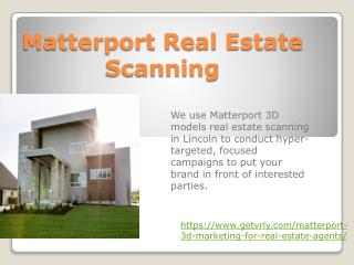 Matterport Real Estate Scanning