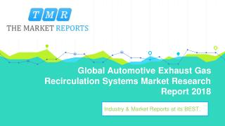 Global Automotive Exhaust Gas Recirculation Systems Industry Analysis, Size, Market share, Growth, Trend and Forecast t