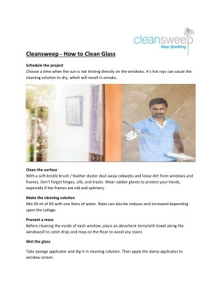 Best window and glass cleaning services in Delhi Ncr
