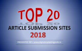 Top 20 Free High DA Article Submission Sites list 2018