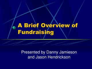 A Brief Overview of Fundraising