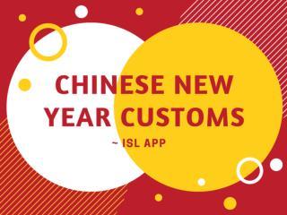 Customs of Chinese New Year | ISL App