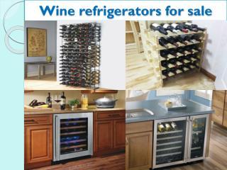 Wine refrigerators for sale