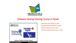 Software testing training institute in noida | Software testing course in noida