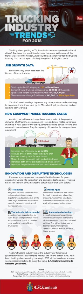 Trucking Industry Trends for 2018