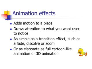 Animation effects