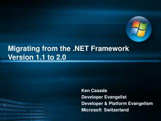 Migrating from the .NET Framework Version 1.1 to 2.0