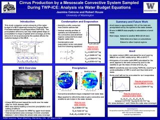 Cirrus Production by a Mesoscale Convective System Sampled  During TWP-ICE: Analysis via Water Budget Equations