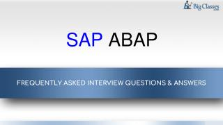 Top 10 Sap abap faqs - www.bigclasses.com