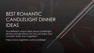 Best Romantic Candlelight Dinner Ideas