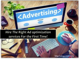 Hire the right ad optimization services for the first time!
