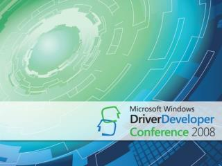 Mobile Broadband Driver Development for Windows 7
