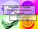 Overview of Tampa Electric s Compliance Program