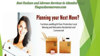 Reputed and Best Packers and Movers Services Visit Thepackersmovers.com