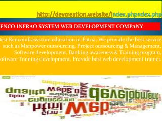 Best web development Education Company in Patna | Rencoinfrasystem