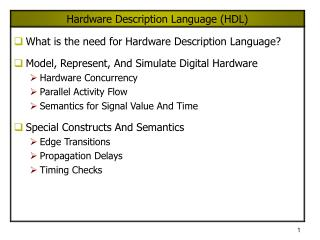 Hardware Description Language HDL
