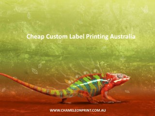 Cheap Custom Label Printing Australia - Chameleon Print Group