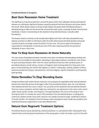 How To Stop Gum Recession At Home Naturally