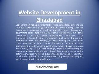 Website Development in Ghaziabad
