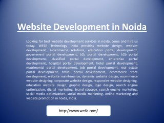 Website Development in Noida