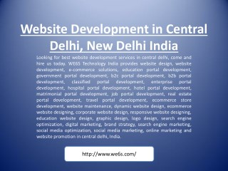Website Development in Central Delhi