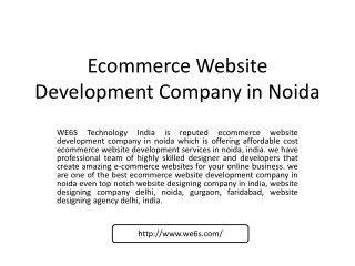 Ecommerce Website Development in Noida