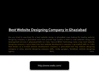 Web Designing in Ghaziabad