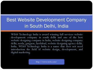 Website Development in South Delhi