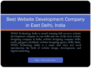 Website Development in East Delhi