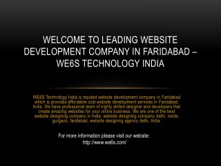 Website Development Company in Faridabad