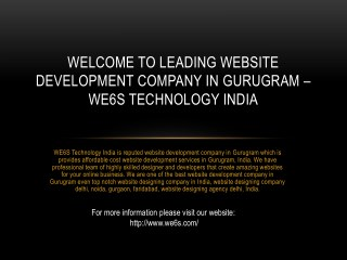 Website Development Company in Gurugram
