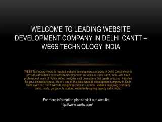 Website Development Company in Delhi Cantt