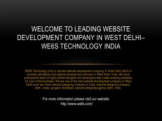 Website Development Company in West Delhi