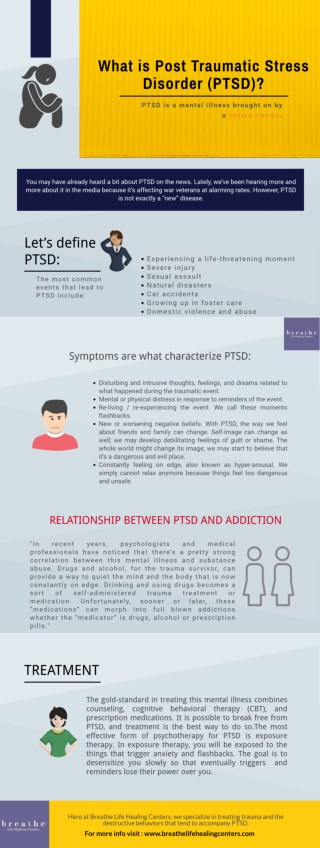 What is Post Traumatic Stress Disorder (PTSD) ?