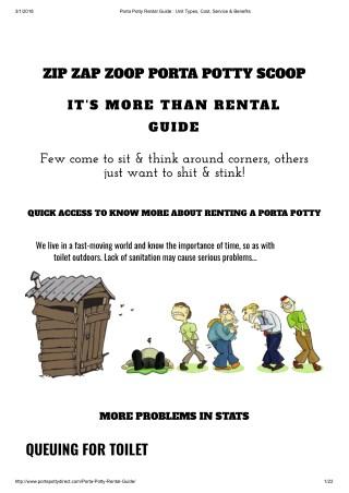 Porta Potty Rental - A Guide Rent A Porta Potty