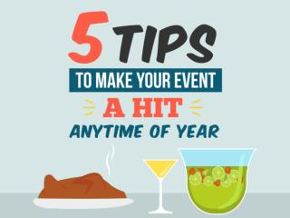 5 Tips to Make Your Event a Hit