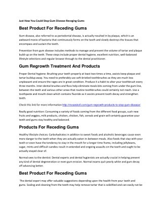Products For Gum Regrowth Treatment