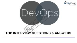 devops interview questions - www.bigclasses.com