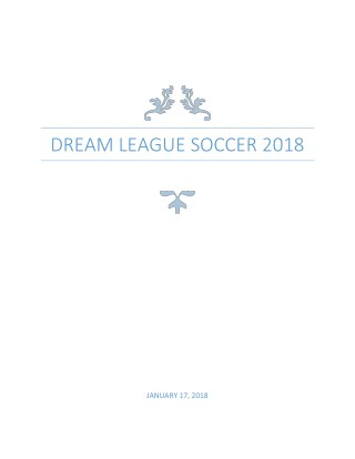 Dream League Soccer 2018 Hacks for PC