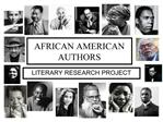 AFRICAN AMERICAN AUTHORS