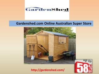 Australian Made Garden Sheds, Timber Sheds, Absco Sheds Online.