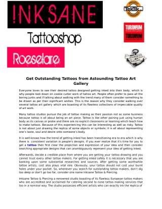 Inksane Tattoo & Piercing