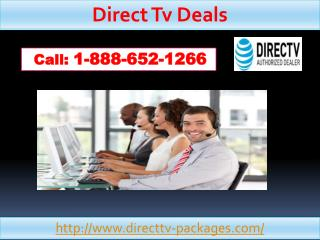 DIRECTV Dealswhich are started over at the very cost-effective prices 1-888-652-1266