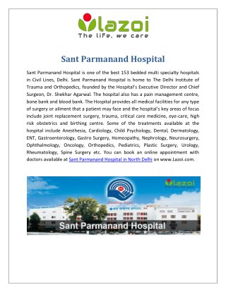Sant Parmanand Hospital - Multi Specialty Hospitals in Civil Lines, Delhi
